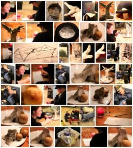 Kreativ Nacht im Februar 2014 Collage